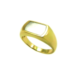 טבעת חותם דגם תבור אם הפנינה
