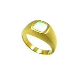 טבעת חותם דגם ארבל אם הפנינה