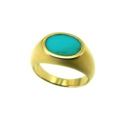 טבעת גולדפילד דגם שניר טורקיז