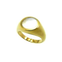 טבעת חותם דגם חרמון אם הפנינה