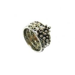 טבעת כסף 925 דגם קשמיר