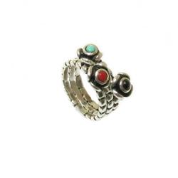 טבעת כסף 925 דגם אידה לאפיס