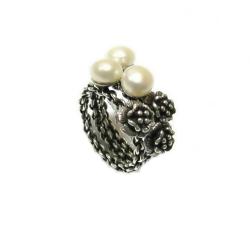 טבעת כסף 925 דגם לונה פנינה