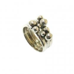 טבעת כסף 925 נערמת דגם ארתה